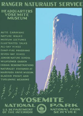 WPA Yosemite National Park Poster  Reproduction. Prints available at   Ranger Doug