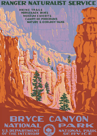 Ranger Doug Bryce Canyon National Park Poster. Image Courtesy of   Ranger Doug  . Prints available at   Ranger Doug  .