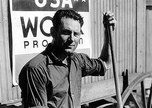 Dewey Woodward, a WPA worker, Washington, D.C. Photo Courtesy of the  New Deal Network .