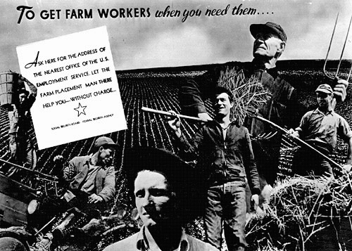 WPA Farm Workers Ad. Photo Courtesy of the   New Deal Network  .