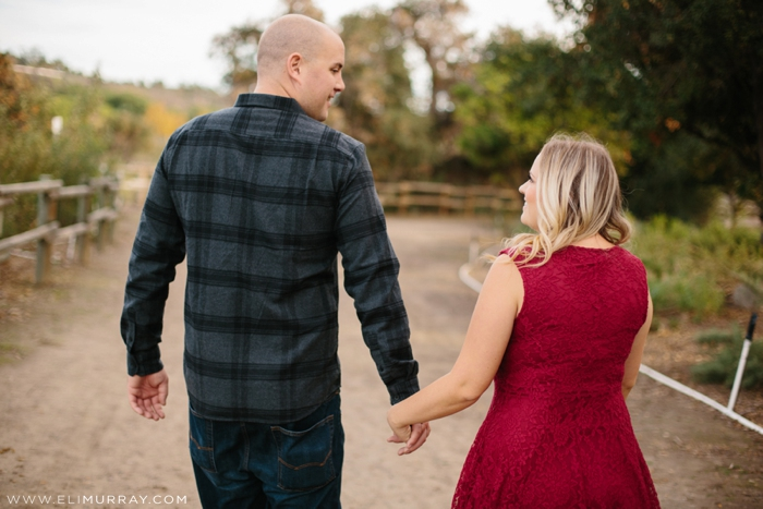 Red and Black Engagement Photo Outfits