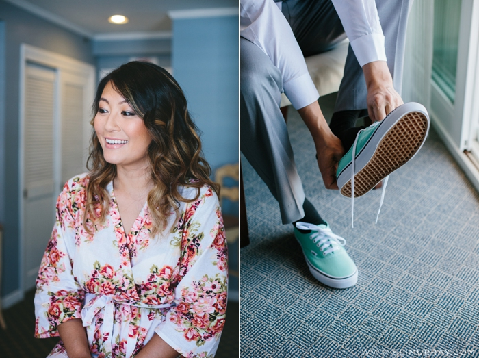 Groom with mint and white Vans Shoes