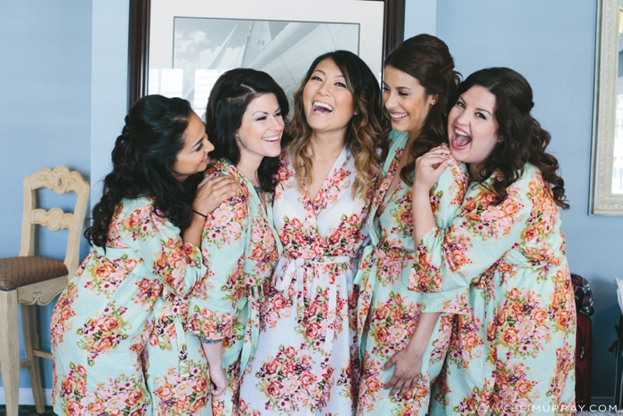 Bride and bridesmaids in Southern California Wedding