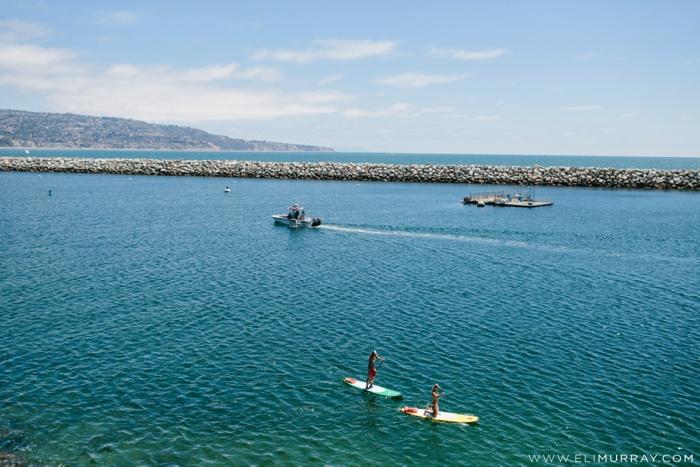 Paddleboarding Redondo Beach California