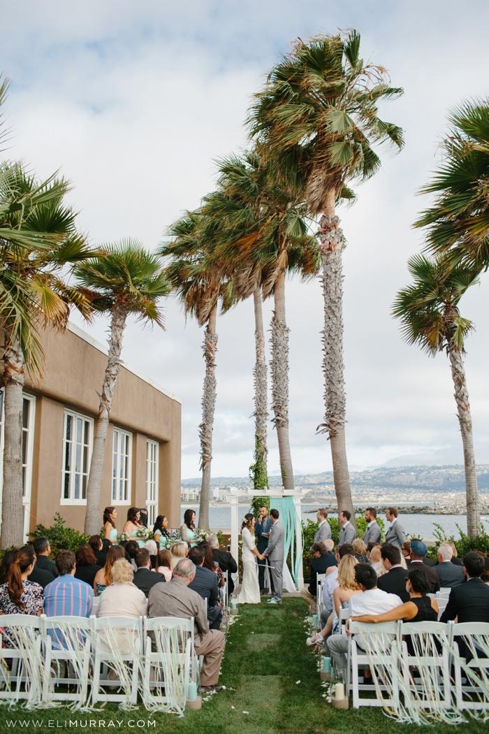 California wedding at Portofino Yacht Club