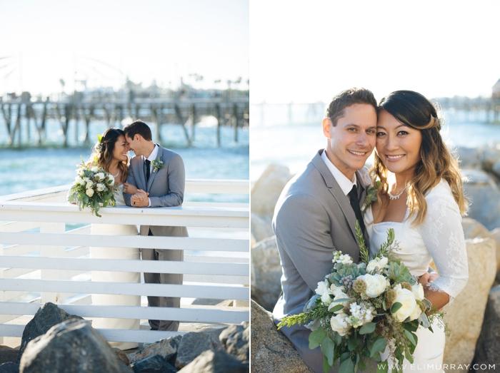 redondo beach pier wedding photos