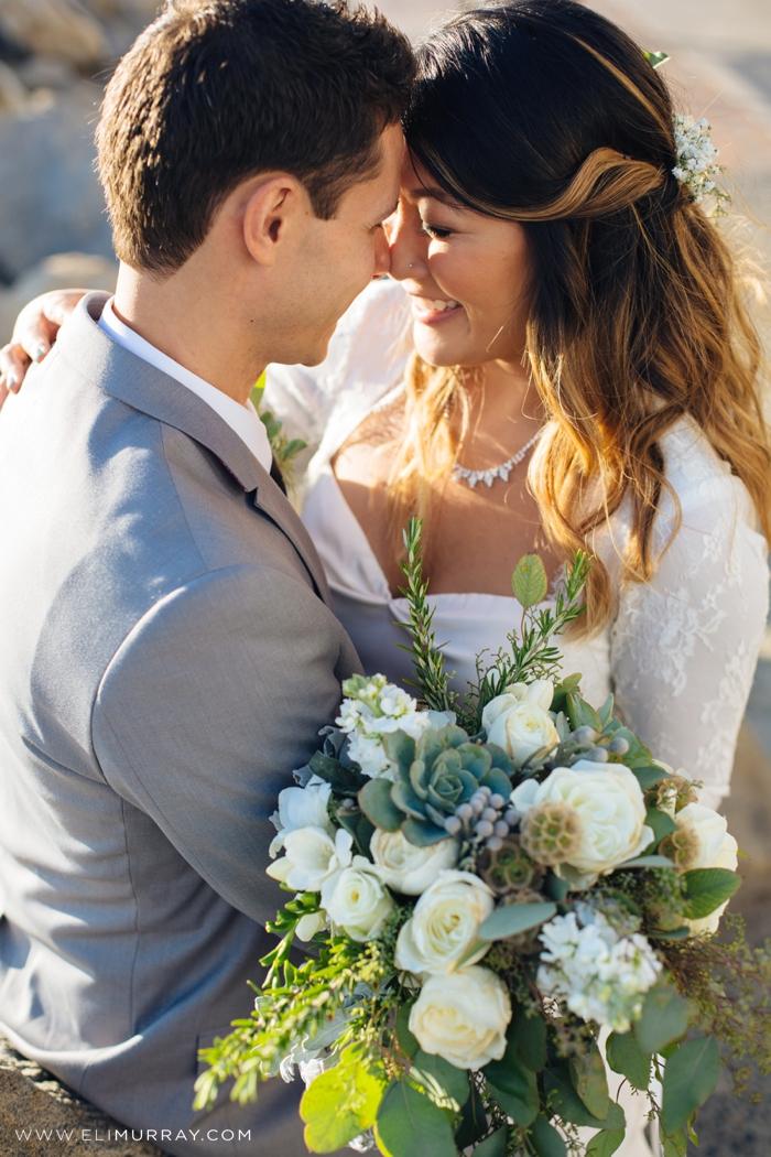 Bride and groom Redondo beach pier