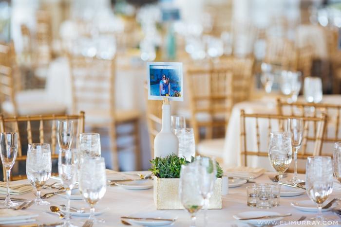 Travel themed wedding reception
