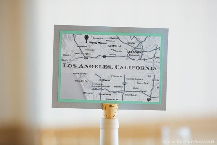 los angeles map wedding idea