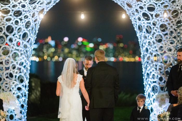 bride and groom in san diego wedding ceremony
