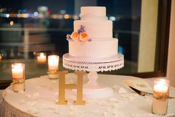 san diego bride and groom's wedding cake