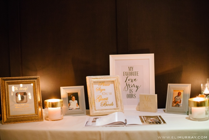 Guest sign in table