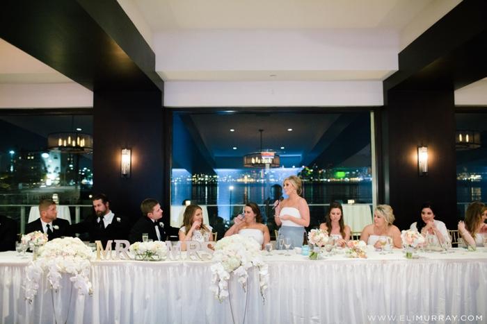 maid of honor giving wedding speech