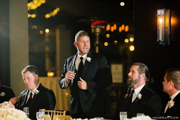 groomsman giving wedding speech