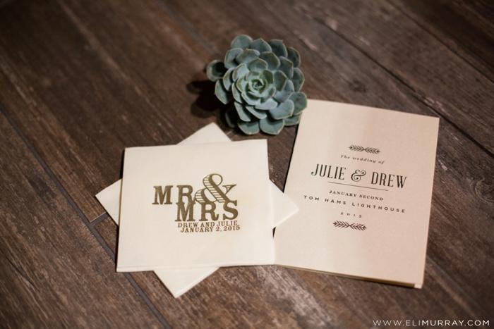julie and drew horne's wedding program