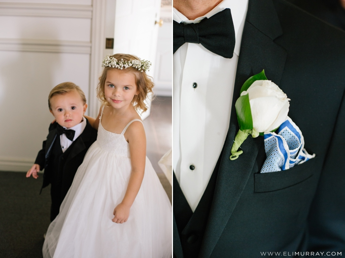 flower girl and ring bearer at dana point wedding