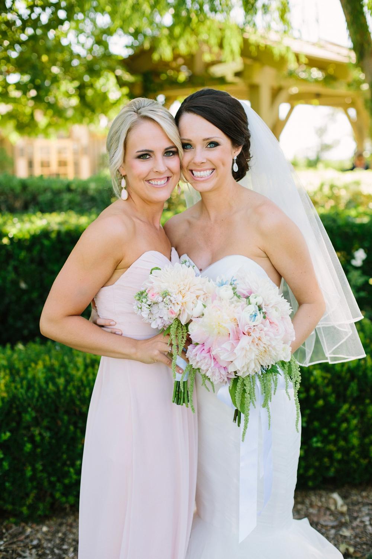 temecula bride with bridesmaid