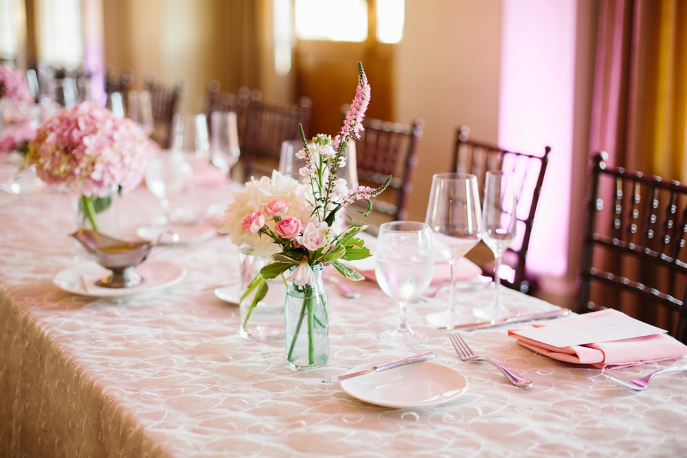 wedding reception table details southern california