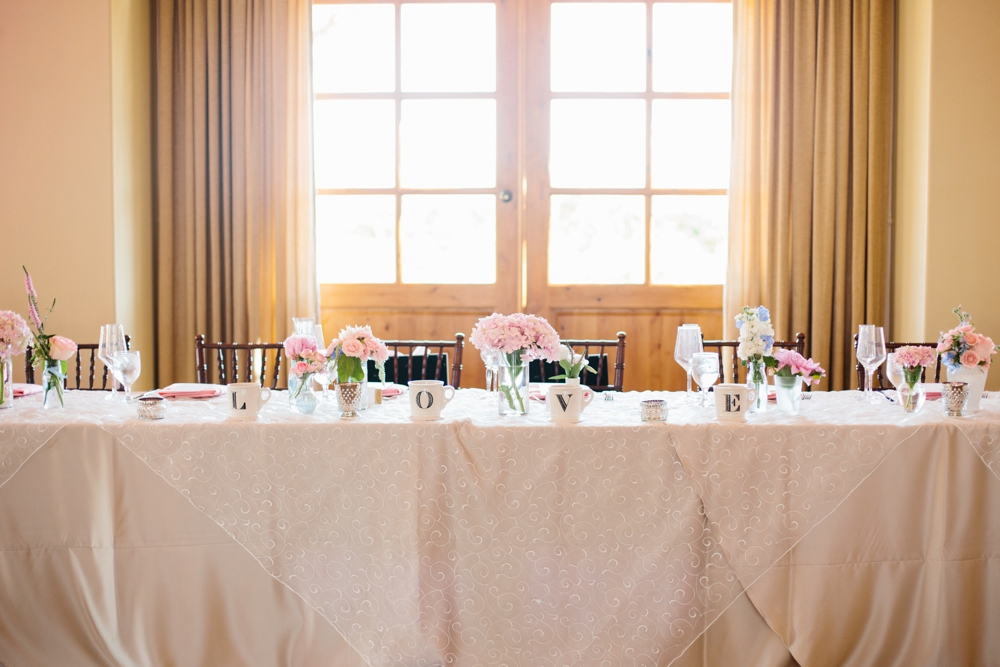 wedding party table in temecula, california