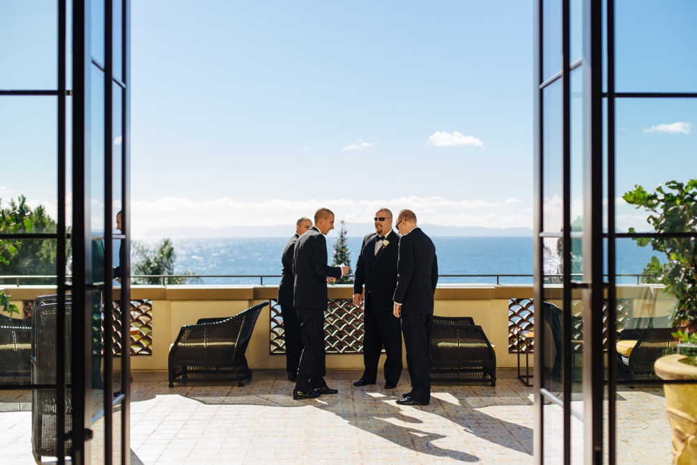 Groomsmen at Terranea Resort