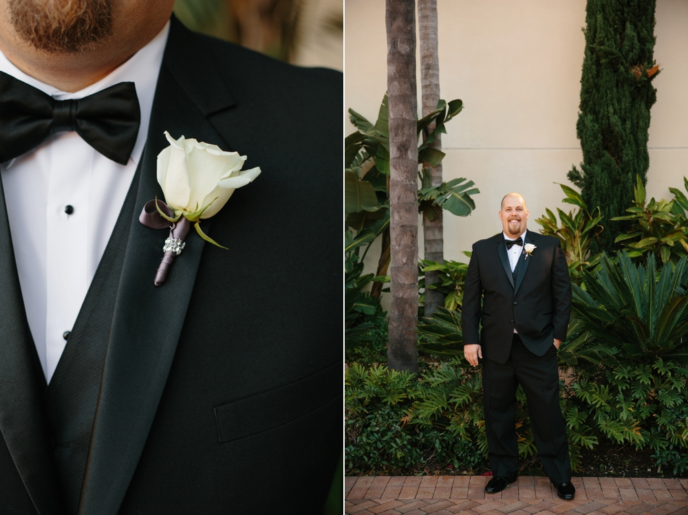 Groom details black bow tie