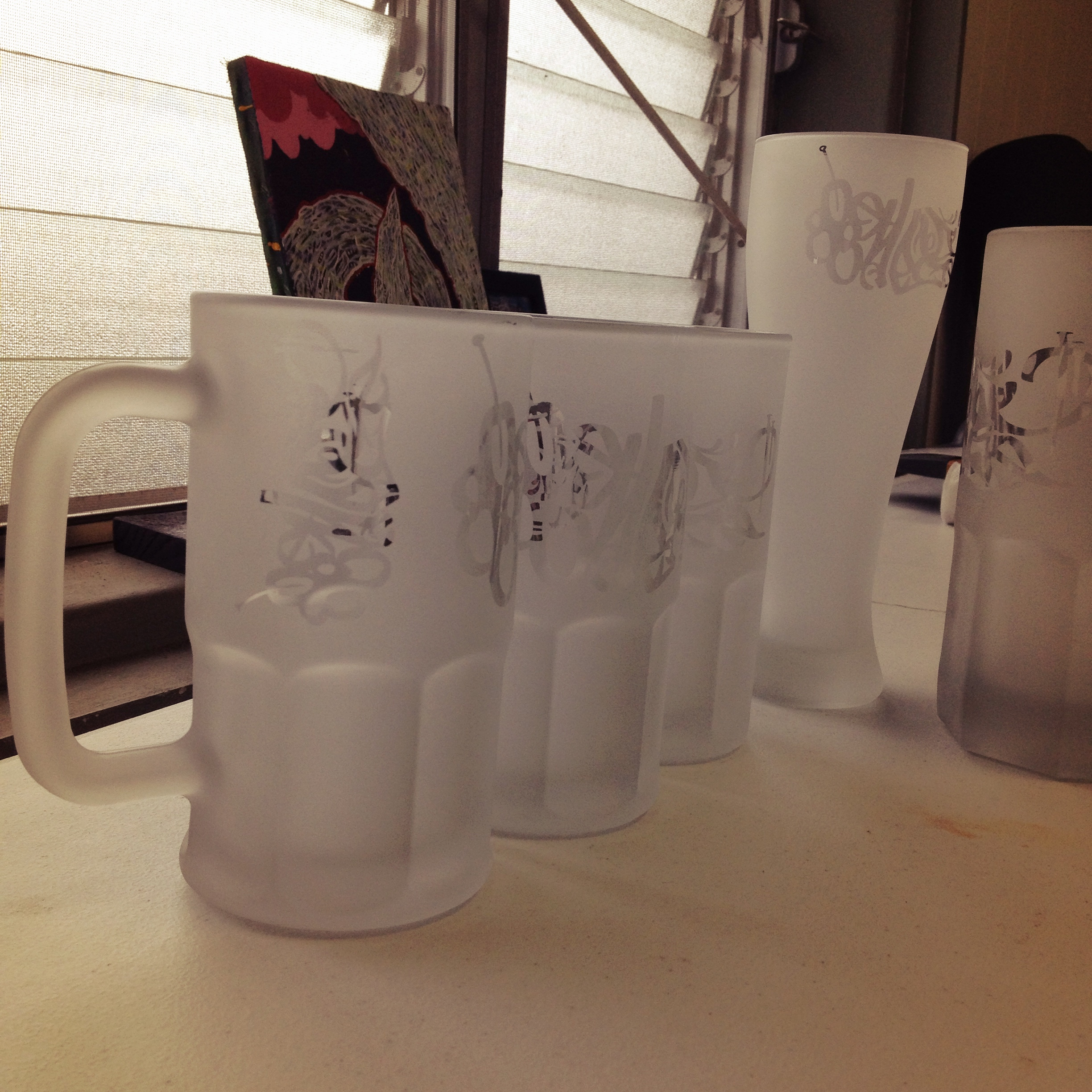 New 808 Empire Hand etched mugs are in. Limited to 25pcs
