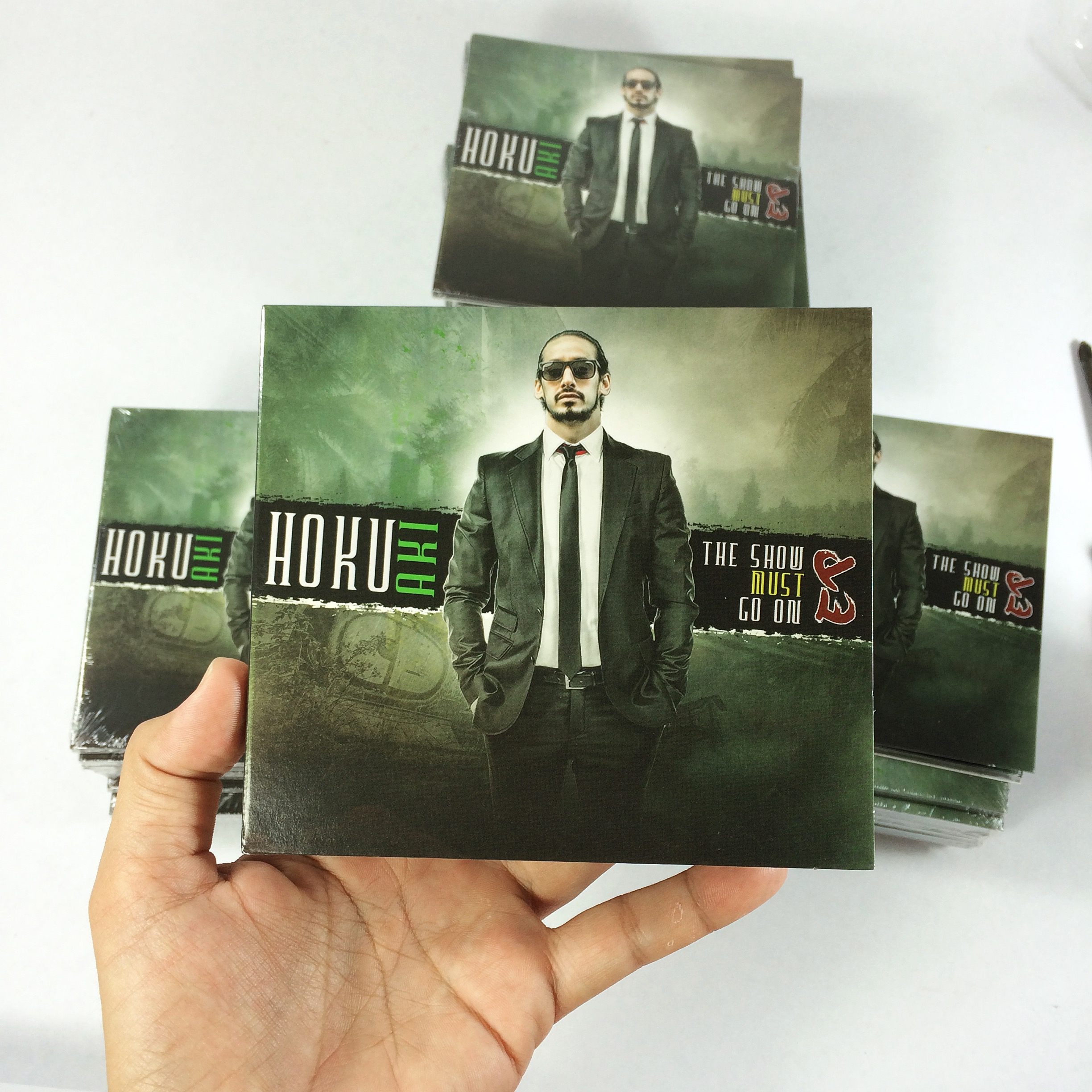 Sneak peak of @hokuaki new album! We will have this for sale soon..very, very, very soon 🕴🎤
