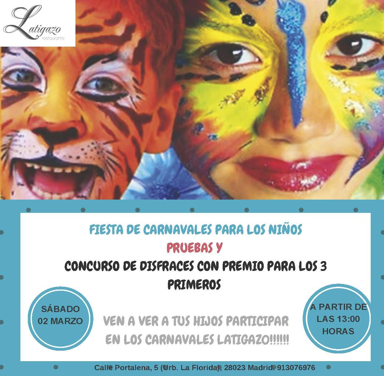 Fiesta Carnavales para niños 2019. Restaurante Latigazo.jpg