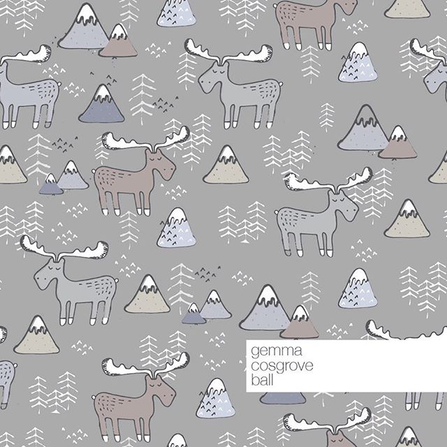 Snowy winter moose 🏔 ❤️ What do you think? Wouldn't these make the cutest winter baby leggings?  I'll be adding this print to my store shortly. . . . . . . . #surfacepatterndesign #surfacepattern #surfacepatterndesigner #fabricdesign #pattern #print #printedtextiles #sewsewsew #spoonflowerfabric #fabricstash #textiledesign #fabric #designersofinstagram #printandpattern  #patternoftheday #seamlesspattern #makersgonnamake #shopsmall #smallbiz #sewallthethings #spoonflower #spoonflowermakers #babywear #babyleggings #rompers #childrenswear #organickidsclothes #handmadekidsclothes #wallpaper #gemmacosgroveball