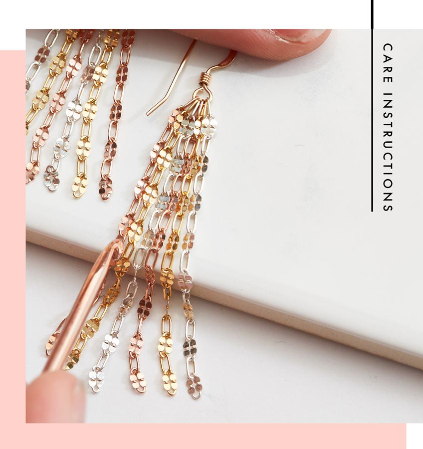 Birds Tail Designs+Handmade Jewelry+Care Instructions+Jewelry Care