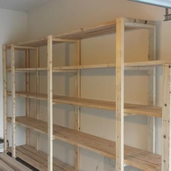 Garage and basement storage shelves - Check out the plans here from Anna White.