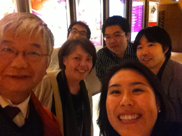 Life wouldn't be complete without a selfie (Hiroyuki Yamaguchi, left; Yuzuko Horigome, front center; Ryo Sasaki, back center; Ryo Oshima, back right; Yuya Tsuda, right; and me, front right!)