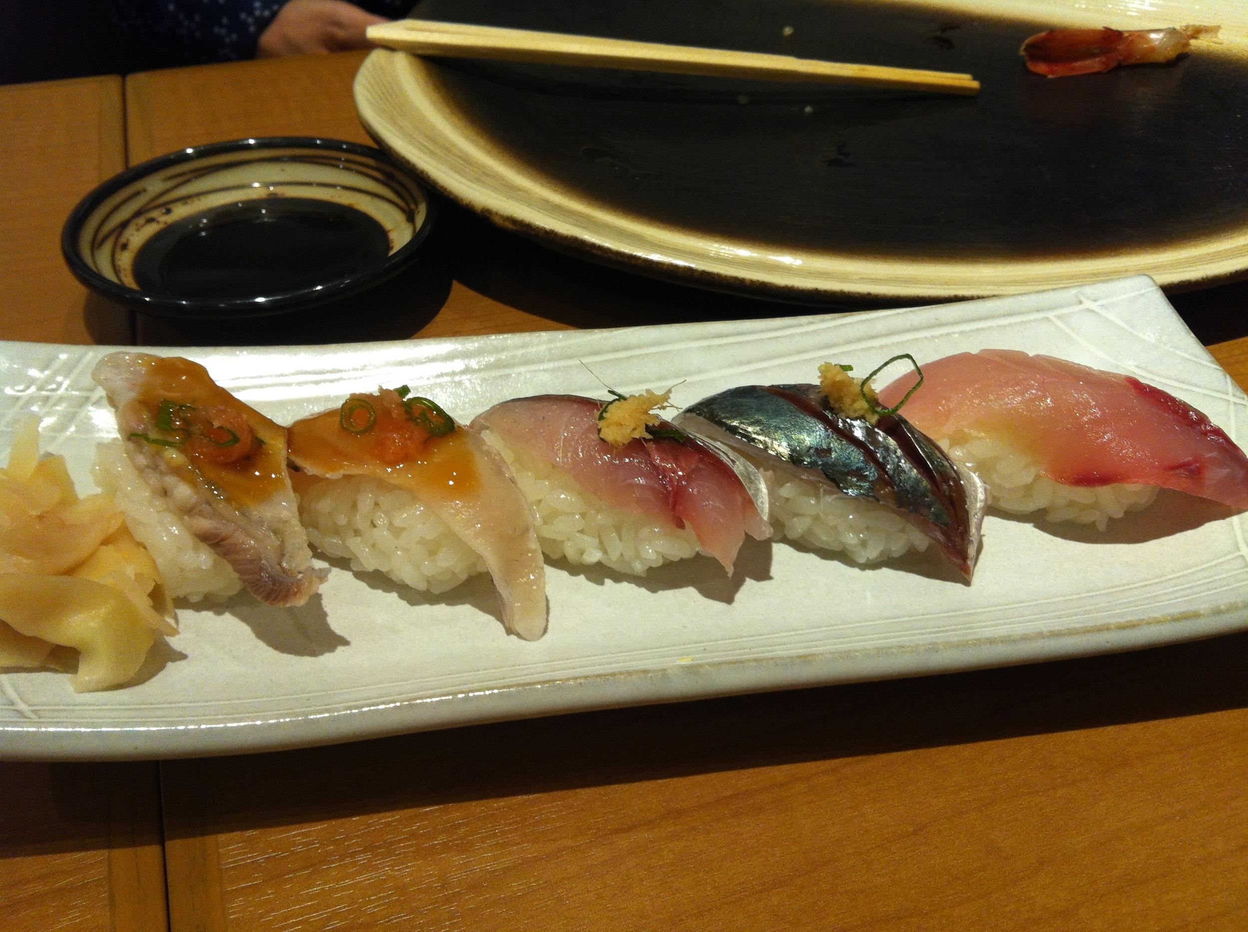 Japanese blow fish sushi...