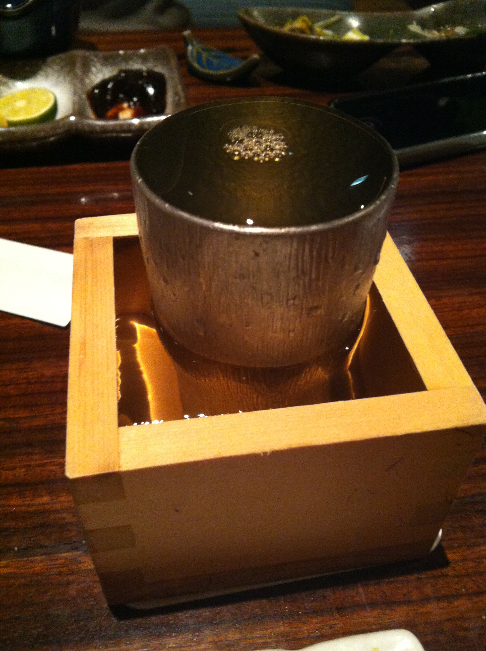 They pour their sake VERY generously