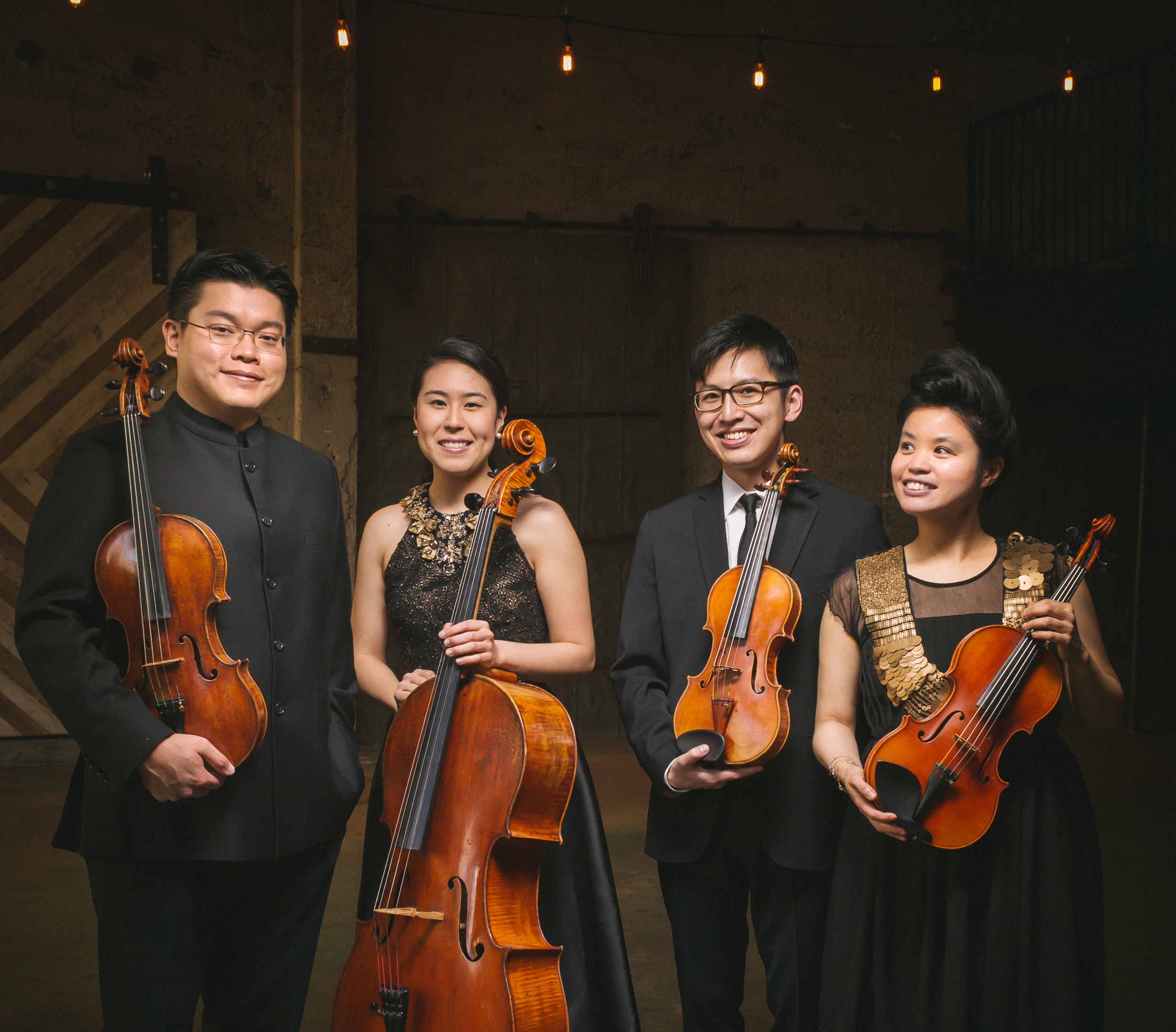 Formosa Quartet (from left to right):  Che-Yen Chen, Deborah Pae, Wayne Lee, Jasmine Lin