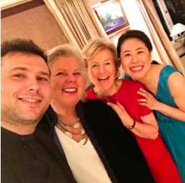 With longtime duo partner Misha Namirovsky and brilliant Artistic Directors of Belgium's Domusica Foundation, Chantal Despot and Danielle Llewellyn, after a memorable recital in Brussels