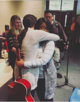 A touching moment with a high school student in Augusta, Georgia after an outreach concert