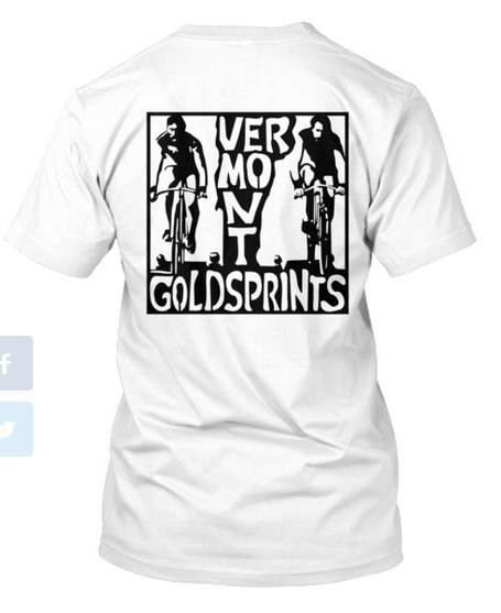 Back of the shirt- the Vermont Goldsprints logo in all its glory.