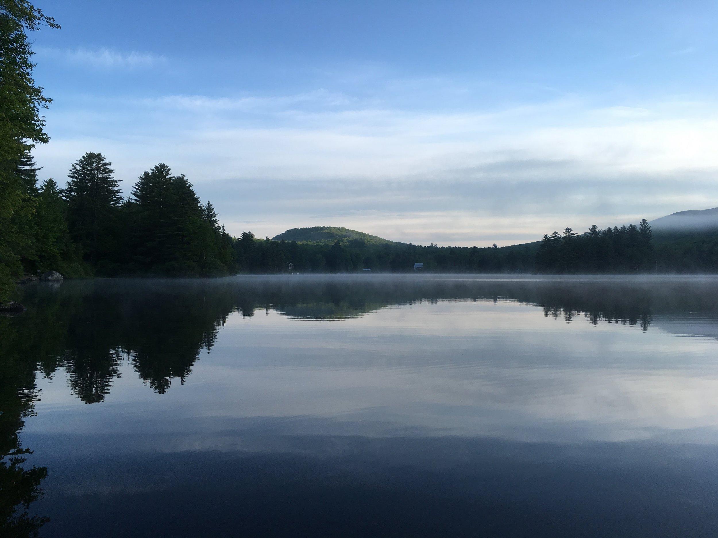 Ricker Pond at dawn.