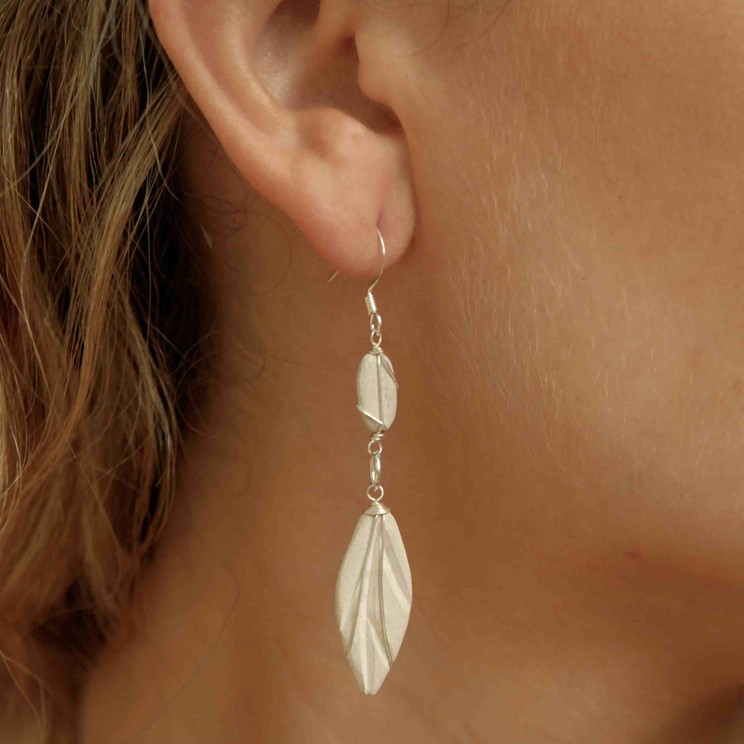Feather Stone Earrings