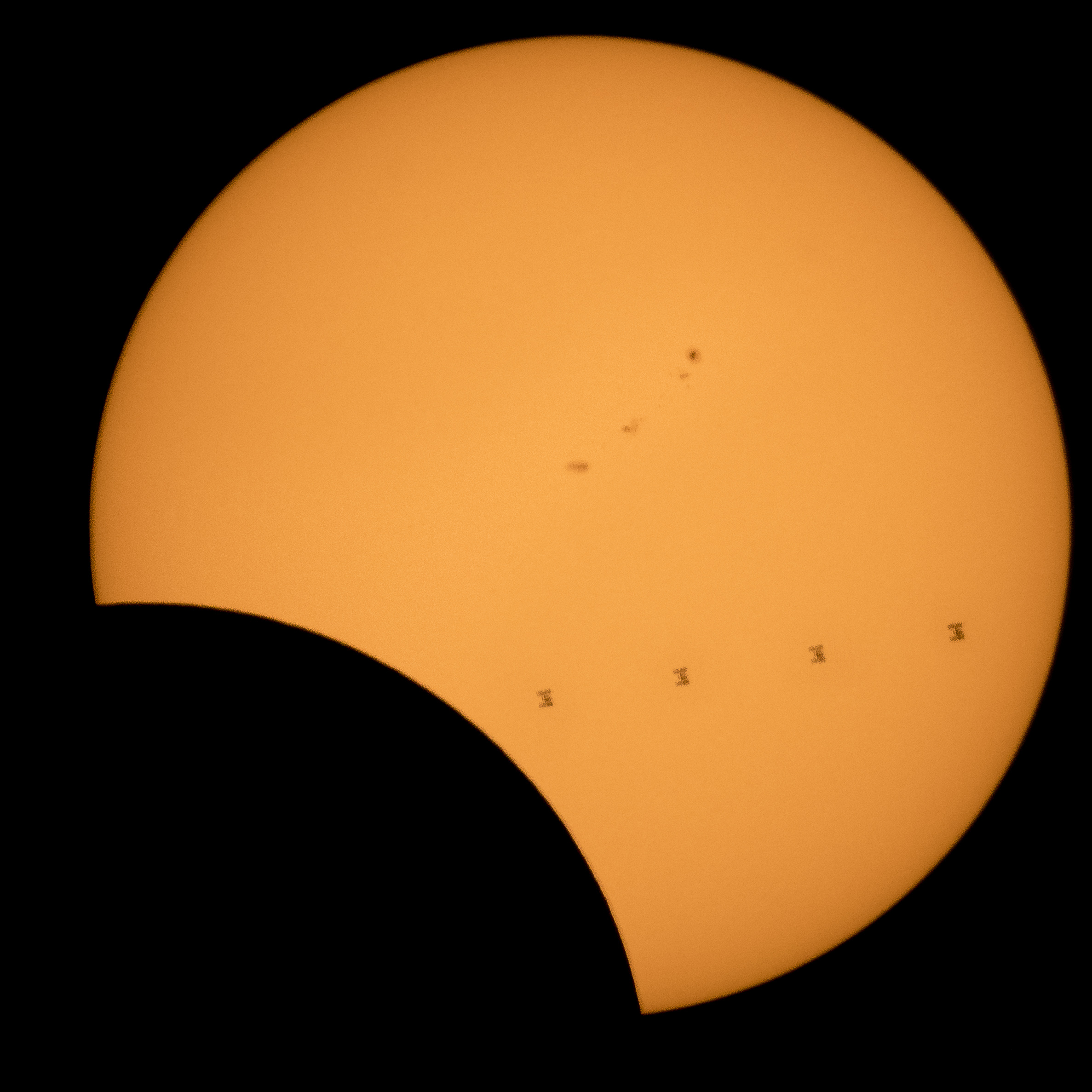 ISS Solar Transit Montage - Eclipse