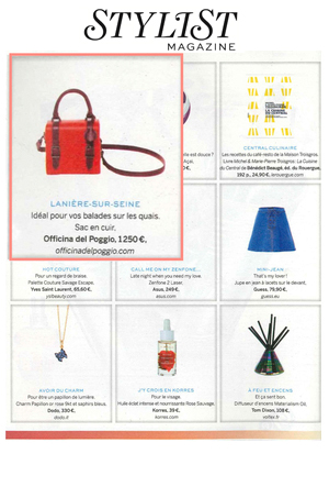 The ODP Mini Bauletto featured in  STYLIST  magazine