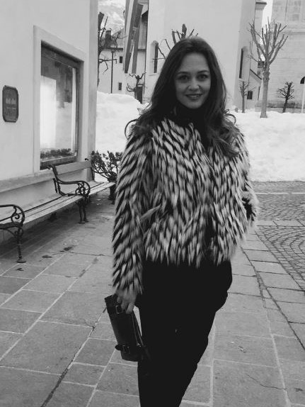 @FrancescaCavallin_Real  with the ODP Pochette in Cortina