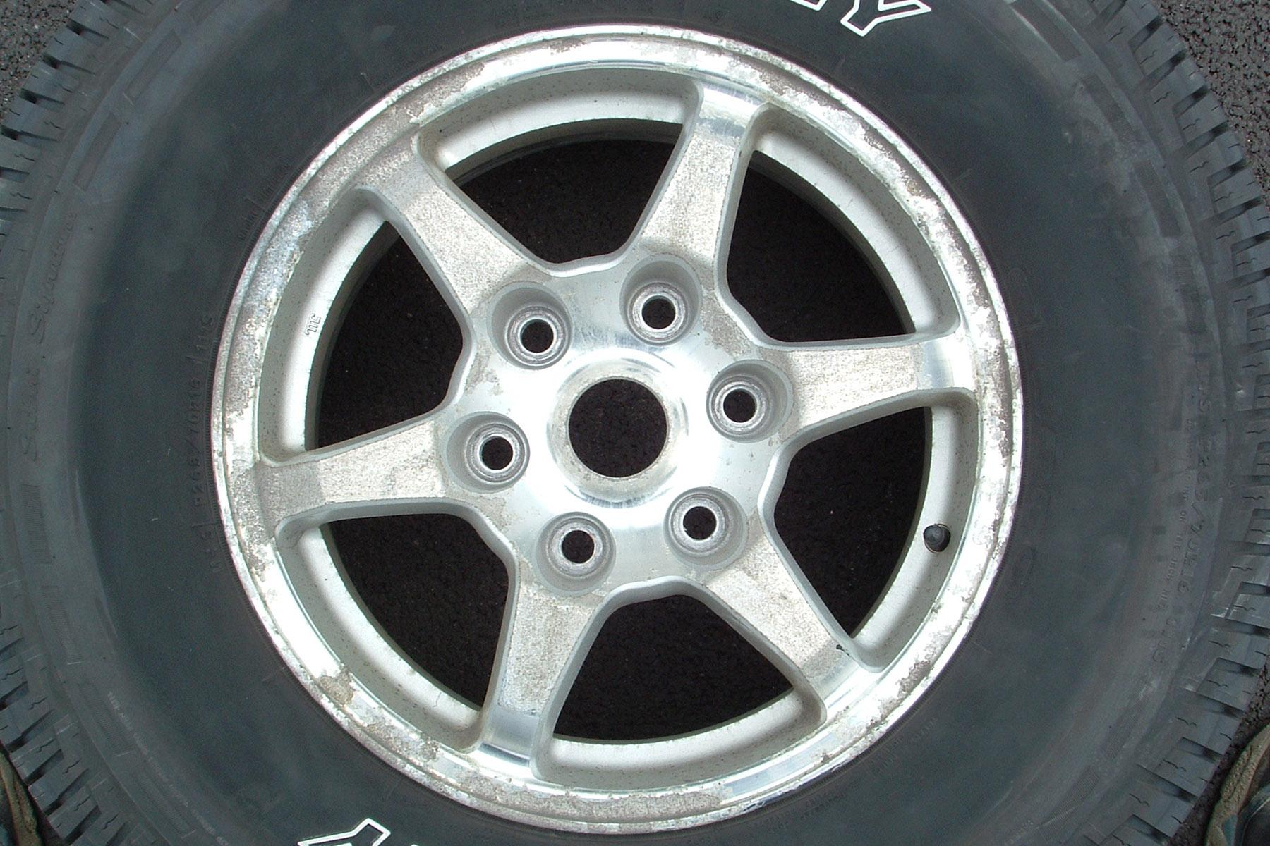 oxidized wheel