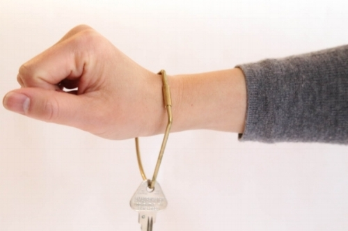 The Contour Key Rings made from a 10 gauge solid brass wire with a secure closing screw clasp. Simple and elegant, large enough to be worn on your wrist or secured to your belt. $25
