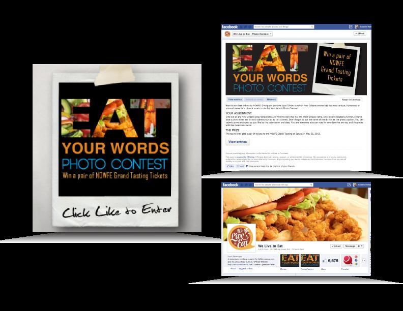 Interactive Social Media Campaign imagery created for Louisiana Restaurant Association
