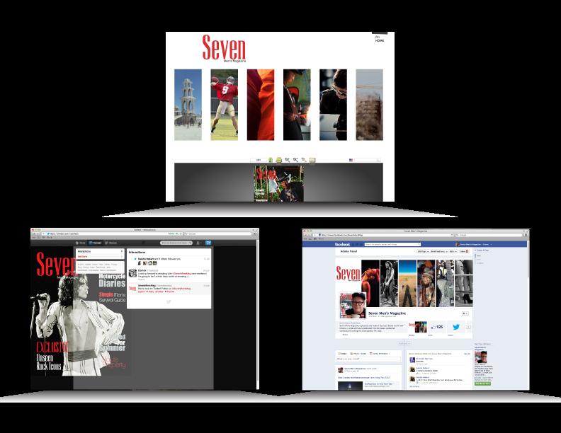 Website and Social Media developed for Seven Men's Magazine