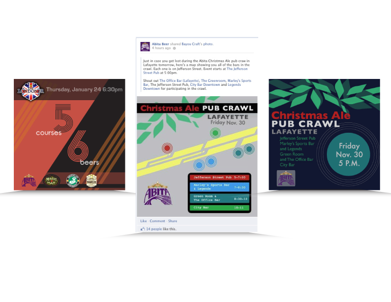 Social Media imagery created for Bayou Craft—Craft Beer Enthusiasts