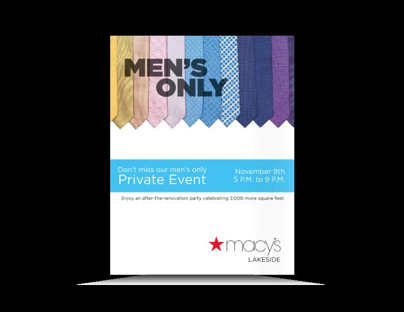 Created for Seven Men's Magazine Men's fashion event, Lakeside Mall