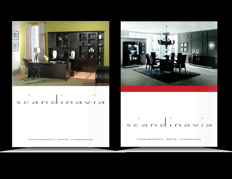 Scandinavia Furniture print ad for Seven Men's Magazine